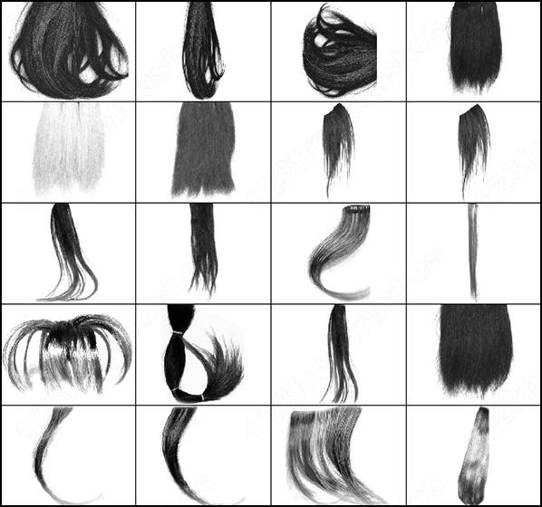 Кисти для фотошопа волосы