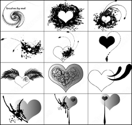 Кисти для фотошопа сердечки